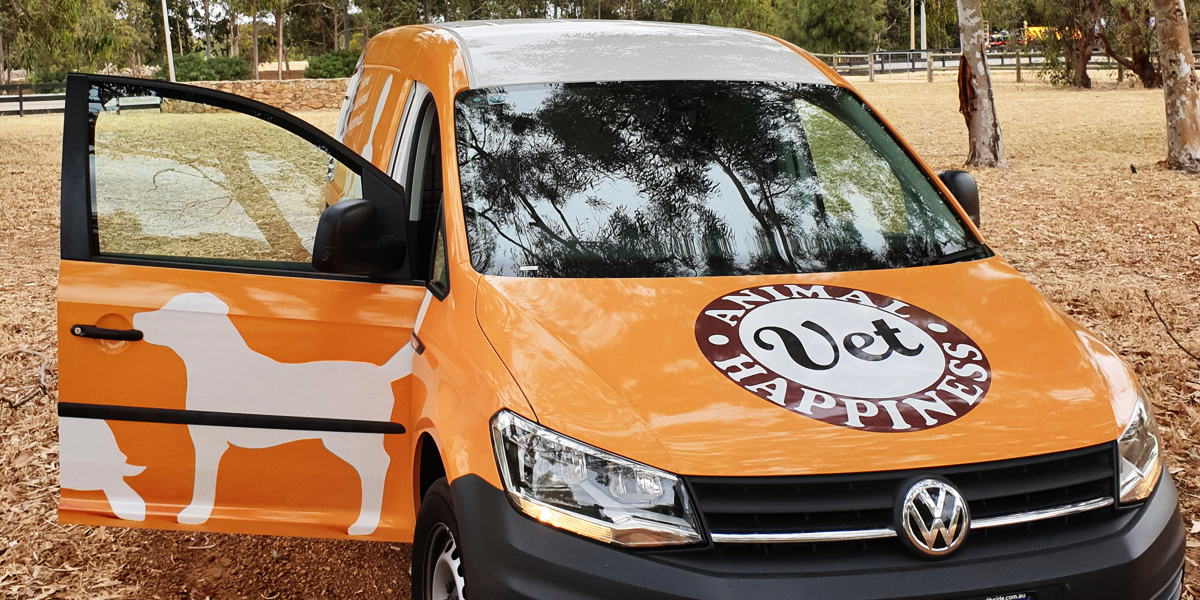Our purpose built mobile vet van provides Perth pets with the best possible care
